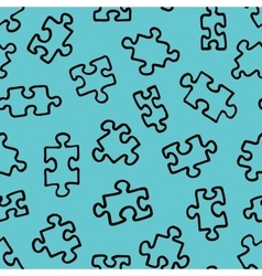 The pattern of the puzzle 01 vector image