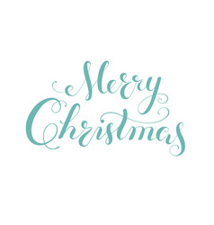 merry christmas calligraphy lettering template vector image vector image