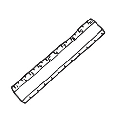 The ruler icon Outlined vector image vector image