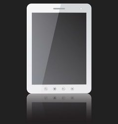 white tablet PC computer vector image vector image