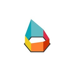 3D construction geometric abstract colorful logo vector image vector image