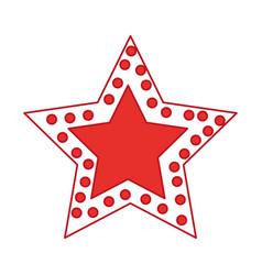Crhistmas star light icon vector