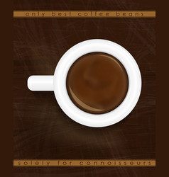 cup of espresso top view coffee background design vector image vector image