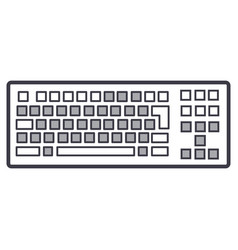 detailed keyboard line icon sign vector image vector image