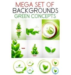 mega set of green concepts vector image