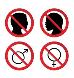 No man and woman sign vector
