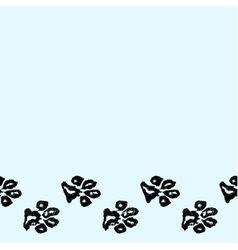Seamless border from dog paw print vector image vector image