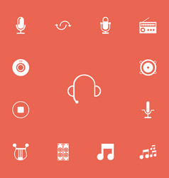 set of 13 editable music icons includes symbols vector image