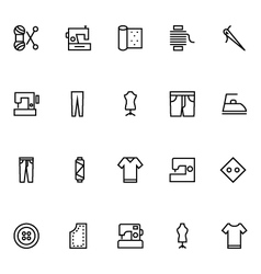 Sewing Line Icons 2 vector image