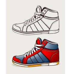 shoes sneakers vector image