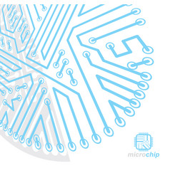 abstract computer circuit board technology vector image