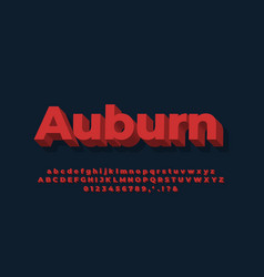 Alphabet meat red text effect or font effect vector