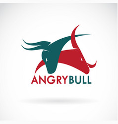 Angry bull on a white background logo animal vector