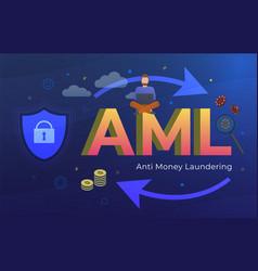 Anti money laundering aml acronym business vector
