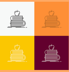 back to school school student books apple icon vector image