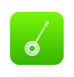 Banjo icon digital green vector