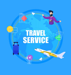 banner travel service ticket booking vector image