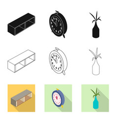 Bedroom and room icon vector
