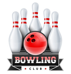 bowling club skittles vector image