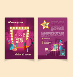 Brochure for advertising concert tours vector