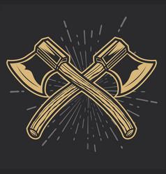 Camping vintage axe adventure outdoor logo 19 vector