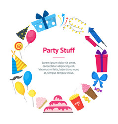 cartoon party holiday banner card circle vector image