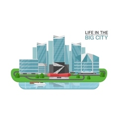 City Buildings Concept vector image