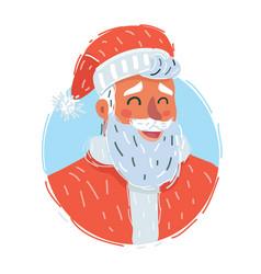 classic santa claus face vector image