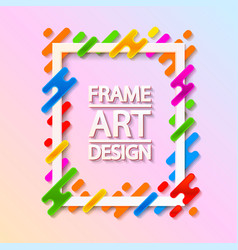 color frame art design beautiful frame vector image