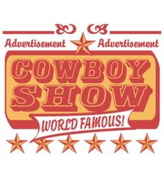 Cowboy show logo vector