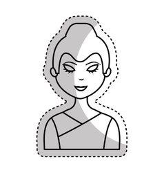 cute geisha character icon vector image