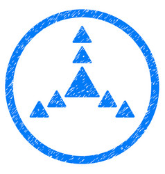 Direction triangles rounded grainy icon vector