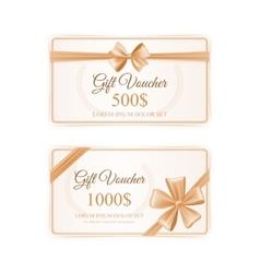 Elegant Gift Cards Set vector image