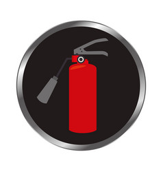 Extinguisher fire sign icon vector
