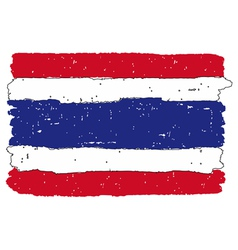 Flag of Thailand handmade vector image