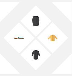 Flat icon dress set of uniform banyan stylish vector