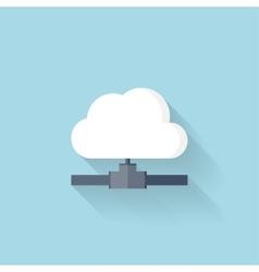 Flat web icon Cloud computing net vector