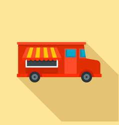 food truck icon flat style vector image