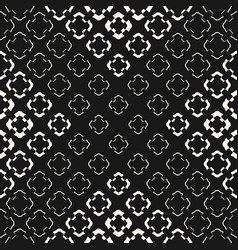 geometric halftone seamless floral pattern vector image