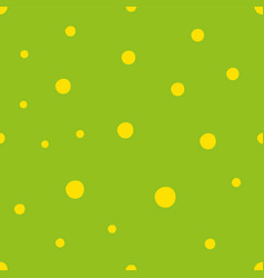 Green seamless pattern with yellow small circles vector