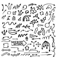Hand drawn simple arrows vector image