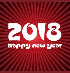 Happy new year 2018 on red stripped background vector