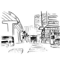 hong kong street vector image