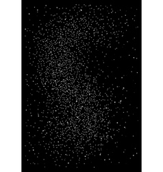 Huge clusters of star in the dark sky Black vector image