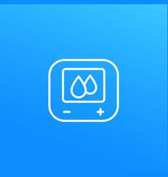 Humidity control line icon vector