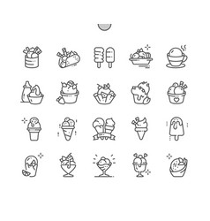 ice cream well-crafted pixel perfect thin vector image