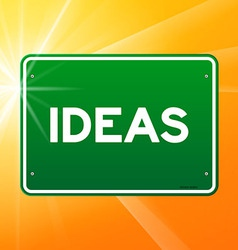 Ideas Green Sign vector image