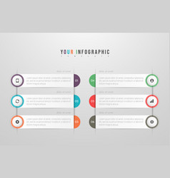 Infographics design and marketing icons vector