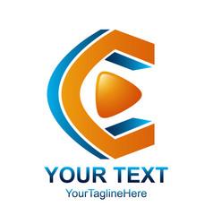 initial letter c logo design template element vector image