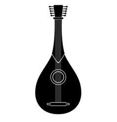 Isolated mandolin icon musical instrument vector